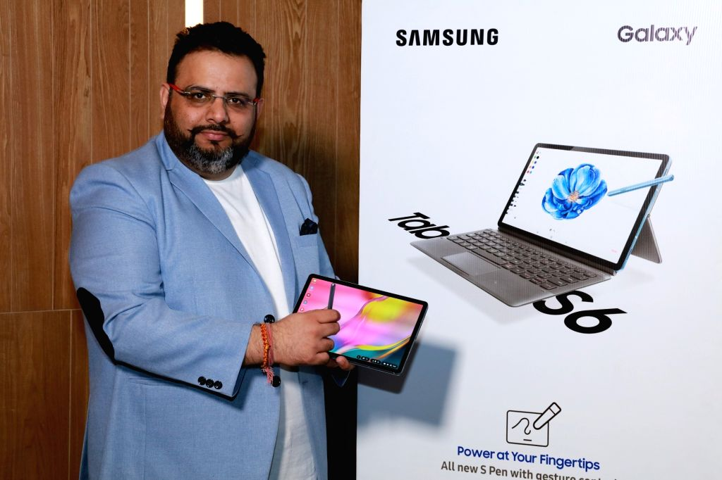 Gurugram: Samsung India Director (Mobile Business) Aditya Babbar at the launch of Galaxy Tab S6, Galaxy Watch 4G and Galaxy Watch Active2, in Gurugram on Oct 10, 2019. (Photo: IANS)