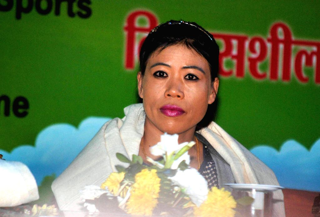 Boxer MC Mary Kom during the 19th National Youth Festival 2015  in Guwahati on Jan 11, 2015.