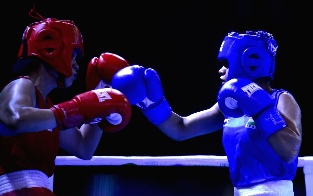 Guwahati: India's Anamika in action against Philippine's Claudine Decena Veloso during the 2nd India Open International Boxing Tournament, in Guwahati on May 20, 2019. (Photo: IANS)