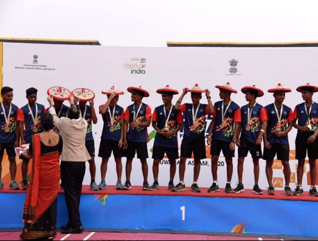 Guwahati: Maharashtra displayed their superiority in the U-17 category by winning the gold medals in both boys and girls category in kho kho at the 2020 Khelo India Youth Games here in Guwahati on Jan 19, 2020. (Photo: IANS)