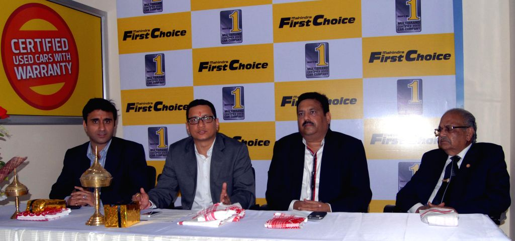 National Head Franchise Operation Mahindra First Choice Wheels Ltd., Tarun Nagar during a press conference organised to inaugurate a `Mahindra First Choice Wheels` showroom in Guwahati on ..