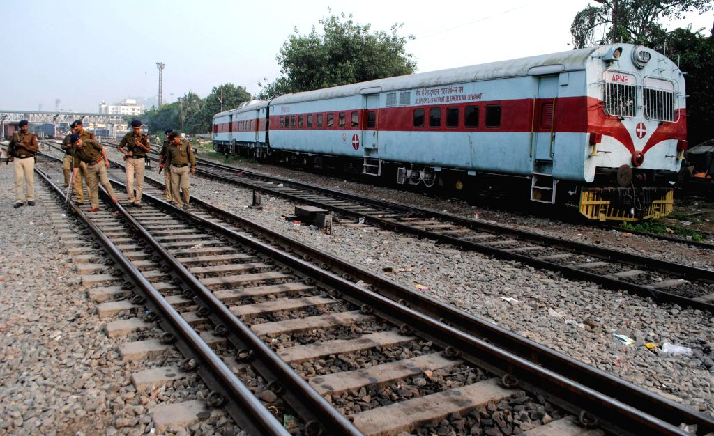 Security beefed up in Guwahati after a powerful bomb was found in the compartment of a local train at a railway station near Guwahati on Nov 24, 2014.