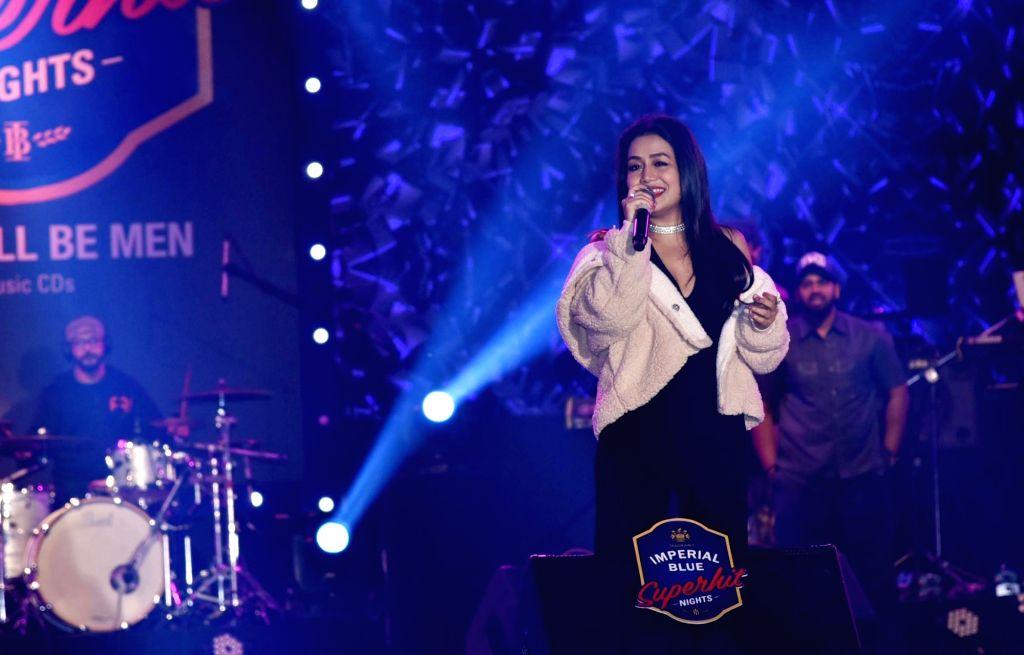 Guwahati: Singer Neha Kakkar performs during a concert in Guwahati, on Jan 4, 2019. (Photo: IANS)