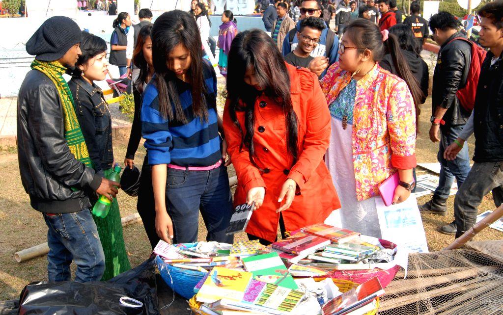 Visitors at the Metropolis Guwahati Festival at the Shradhanjali Kanan in Guwahati, on Jan 10, 2015.