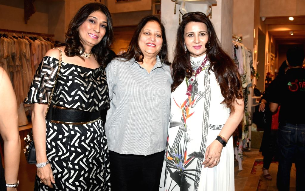Gynaecologist and Consultant Obstetrician Rishma Pai philanthropist Minal Bajaj and actress Poonam Dhillon at the launch of a designer store, in Mumbai on July 21, 2018. - Poonam Dhillon