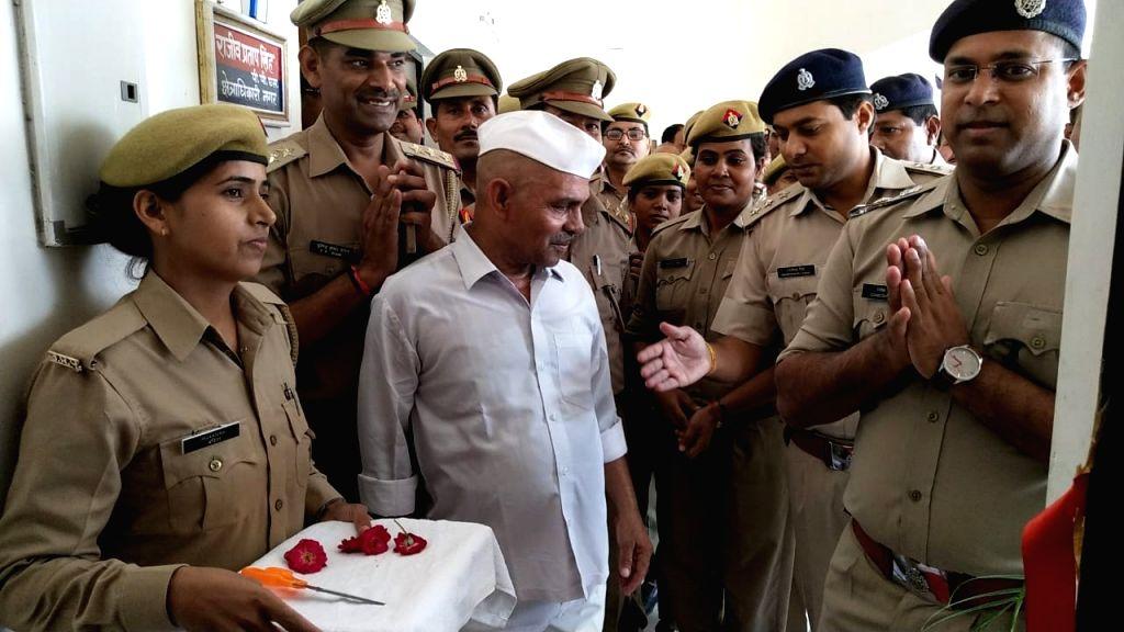 Hafiz Beg inaugurates the office of police media cell in Banda, Uttar Pradesh on July 16, 2019.