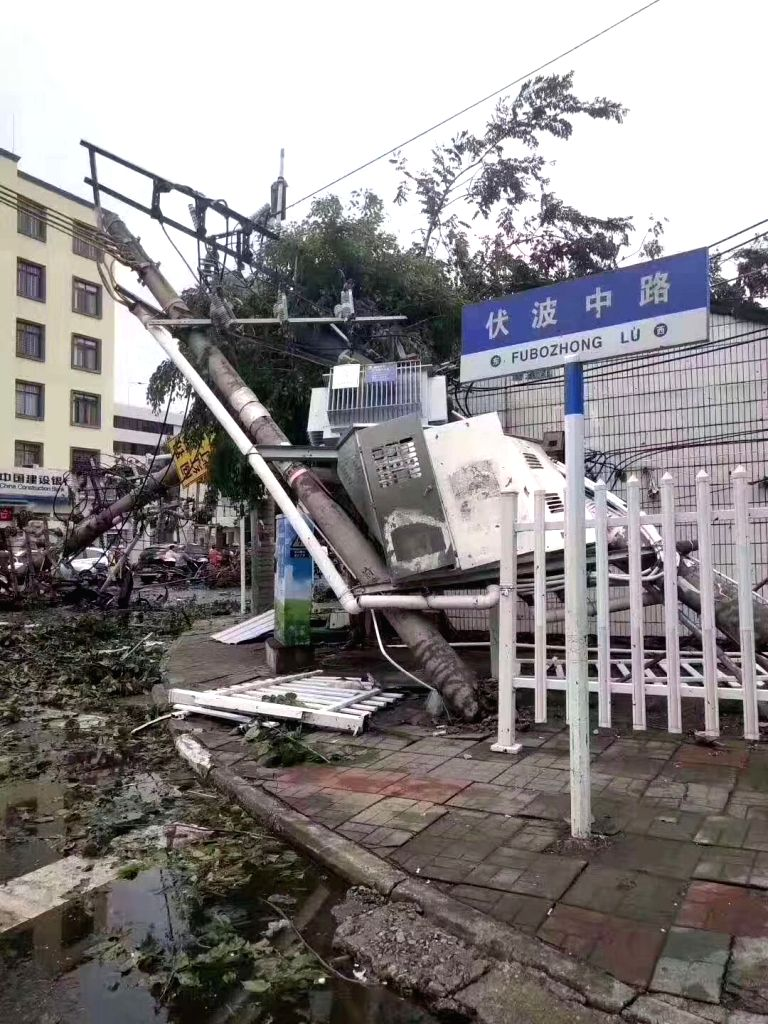 HAIKOU, Aug. 29, 2019 - Photo taken on Aug. 29, 2019 shows the damages after a tornado ripped across Nada Township of Danzhou City, south China's Hainan Province. At least eight people died and one ...