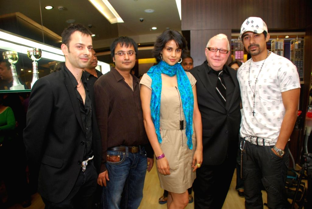 Hair stylist guy Kremer with Gul Panaag and Ranvijay Singh at eye catchers.
