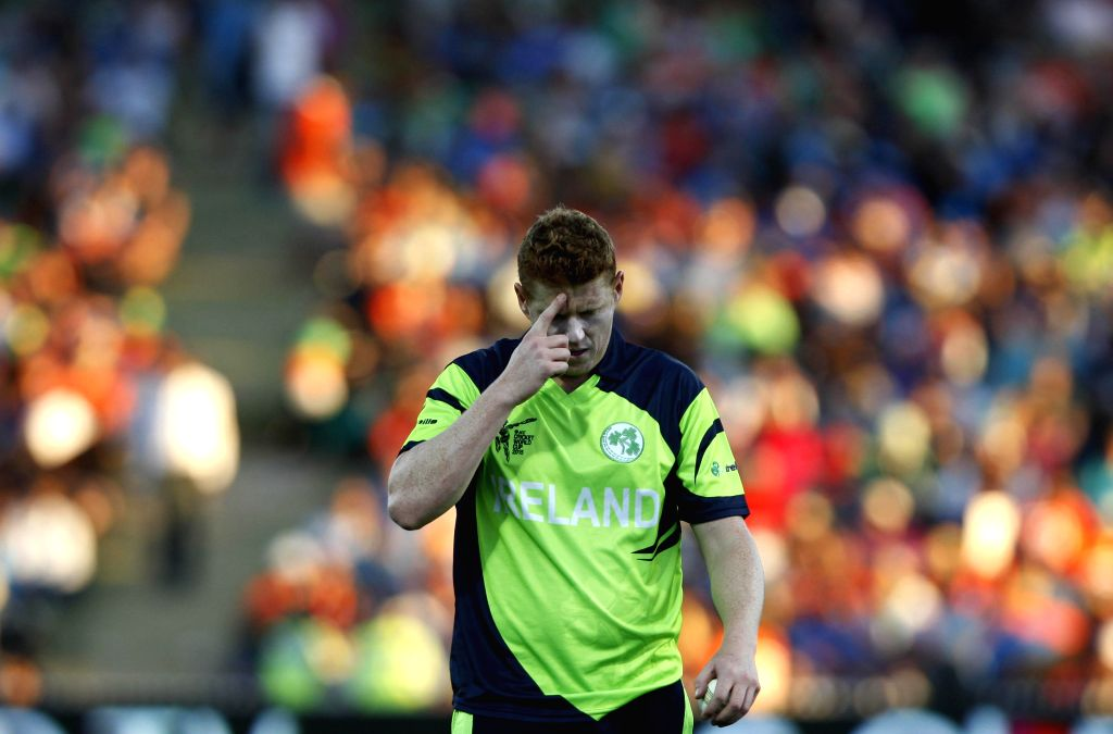 Hamilton (New Zealand): An Irish bowler during an ICC World Cup - 2015 match against India at the Seddon Park in Hamilton, New Zealand  on March 10, 2015.