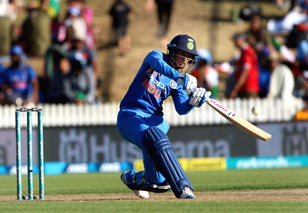 Hamilton (New Zealand): India's Smriti Mandhana in action during the third women's T20I match between India and New Zealand at Seddon Park in Hamilton, New Zealand on Feb 10, 2019.