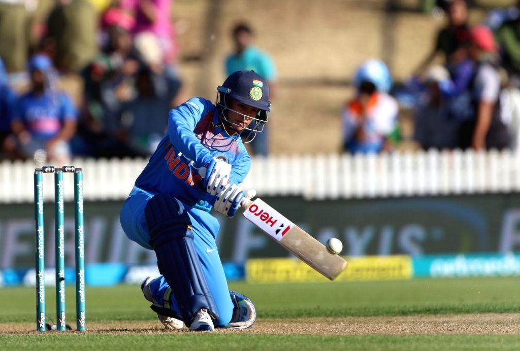 Hamilton (New Zealand): India's Smriti Mandhana in action during the third women's T20I match between India and New Zealand at Seddon Park in Hamilton, New Zealand on Feb 10, 2019. (Photo: Surjeet Yadav/IANS) - Surjeet Yadav