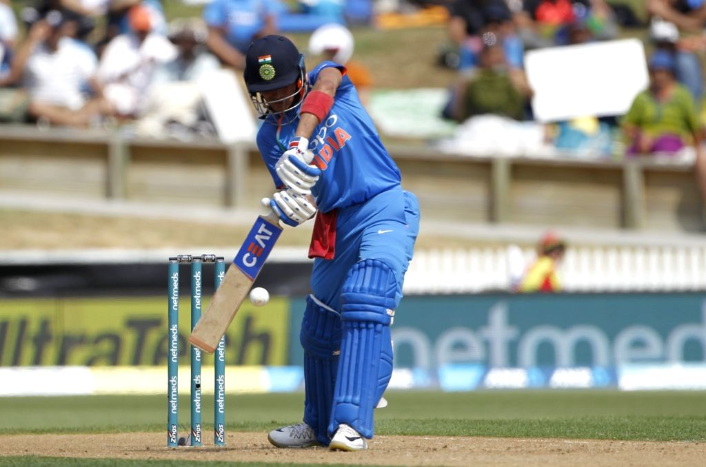 Hamilton (New Zealand) : Indian batsman Shubman Gill plays a shot during the 4th ODI cricket match between India and New Zealand played at Seddon Park, Hamilton, New Zealand on Jan. 31, 2019. - Shubman Gill
