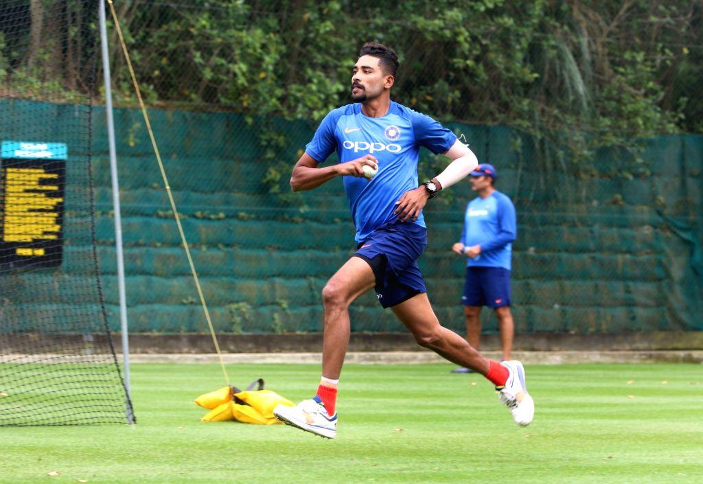 Hamilton (New Zealand): Indian cricketer Mohammed Siraj during a practice session at Sadden Park, Hamilton, New Zealand on Jan. 30, 2019. (Photo: Surjeet Yadav/IANS) - Surjeet Yadav