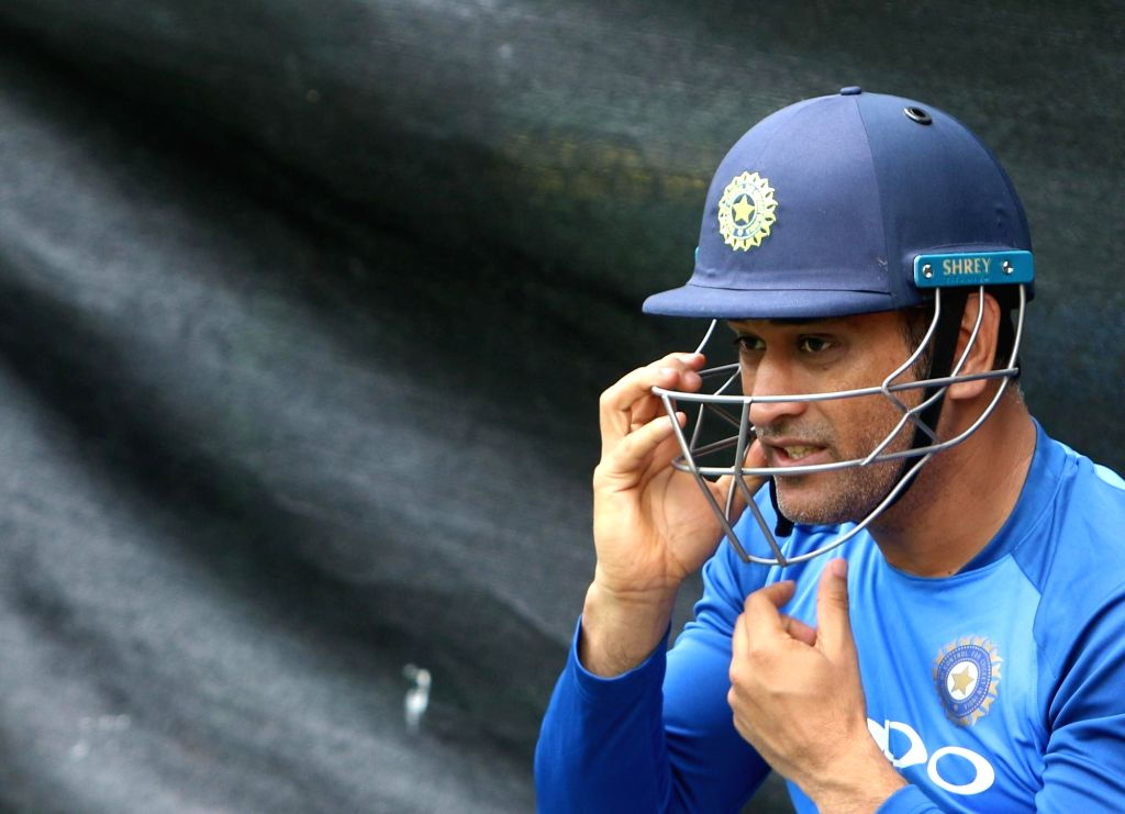 Hamilton (New Zealand): Indian wicket-keeper MS Dhoni during a practice session at Sadden Park, Hamilton, New Zealand on Jan. 30, 2019. (Photo: Surjeet Yadav/IANS) - MS Dhoni and Surjeet Yadav