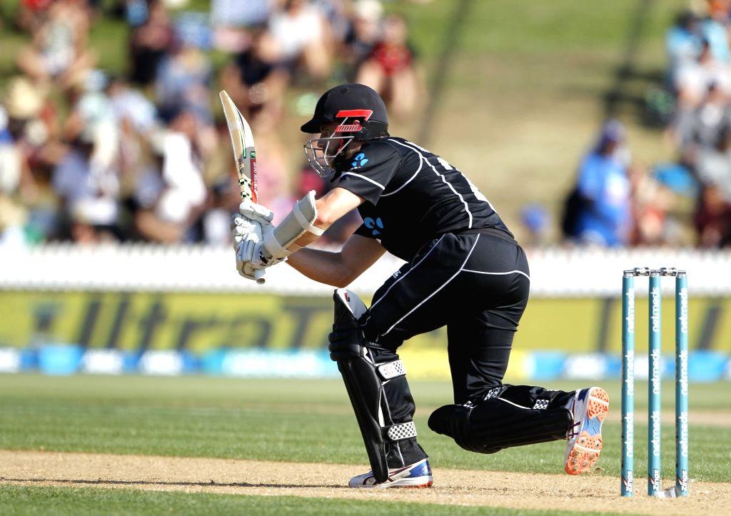 Hamilton (New Zealand) : New Zealand batsman Kane Williamson plays a shot during the 4th ODI cricket match between India and New Zealand played at Seddon Park, Hamilton, New Zealand on Jan. 31, 2019. - Kane Williamson