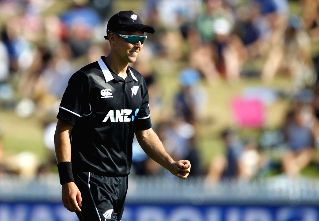 Hamilton (New Zealand) : New Zealand bowler Trent Boult during the 4th ODI cricket match between India and New Zealand at Seddon Park, Hamilton, New Zealand on Jan. 31, 2019. - Trent Boult
