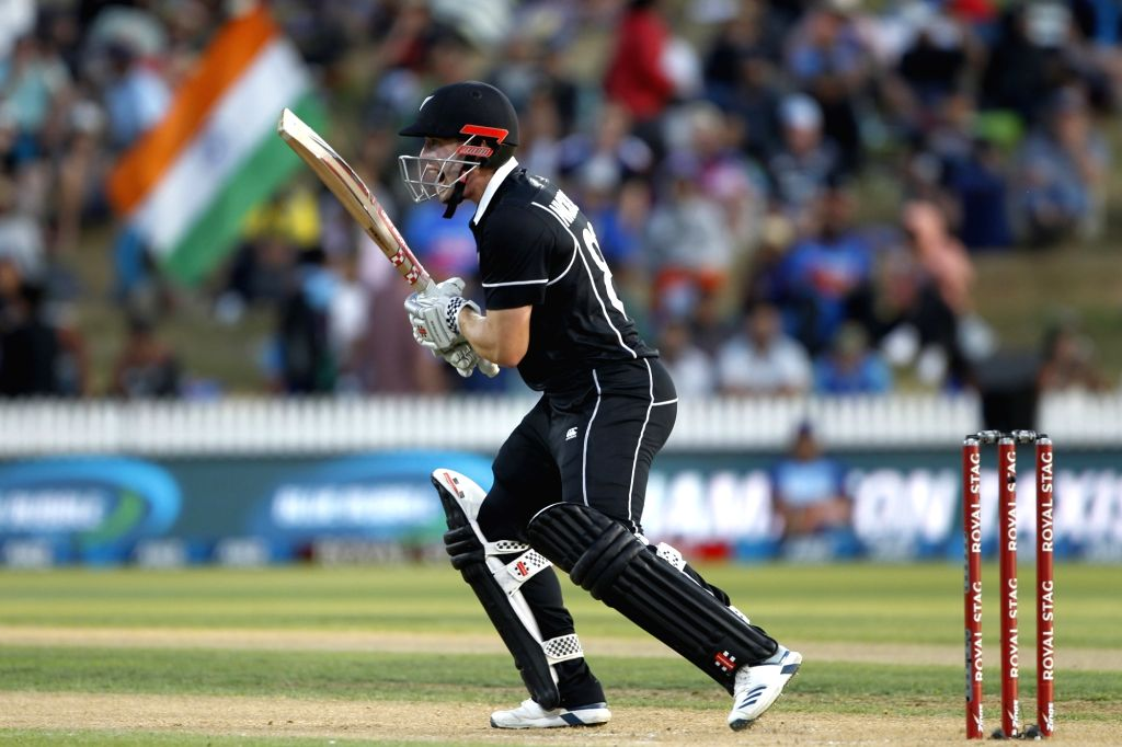 Hamilton: New Zealand's Henry Nicholls in action during the 1st ODI of the three-match series between India and New Zealand at the Seddon Park in Hamilton, New Zealand on Feb 5, 2020. (Photo: IANS)