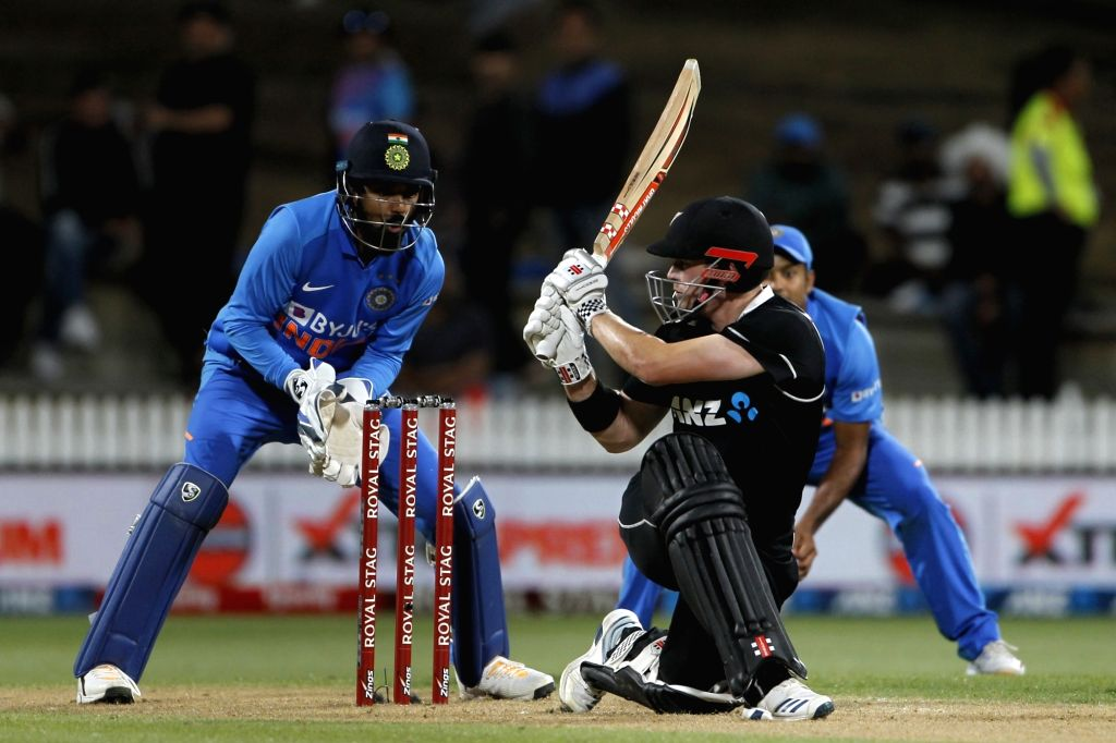 Hamilton: New Zealand's Ross Taylor in action during the 1st ODI of the three-match series between India and New Zealand at the Seddon Park in Hamilton, New Zealand on Feb 5, 2020. (Photo: IANS)
