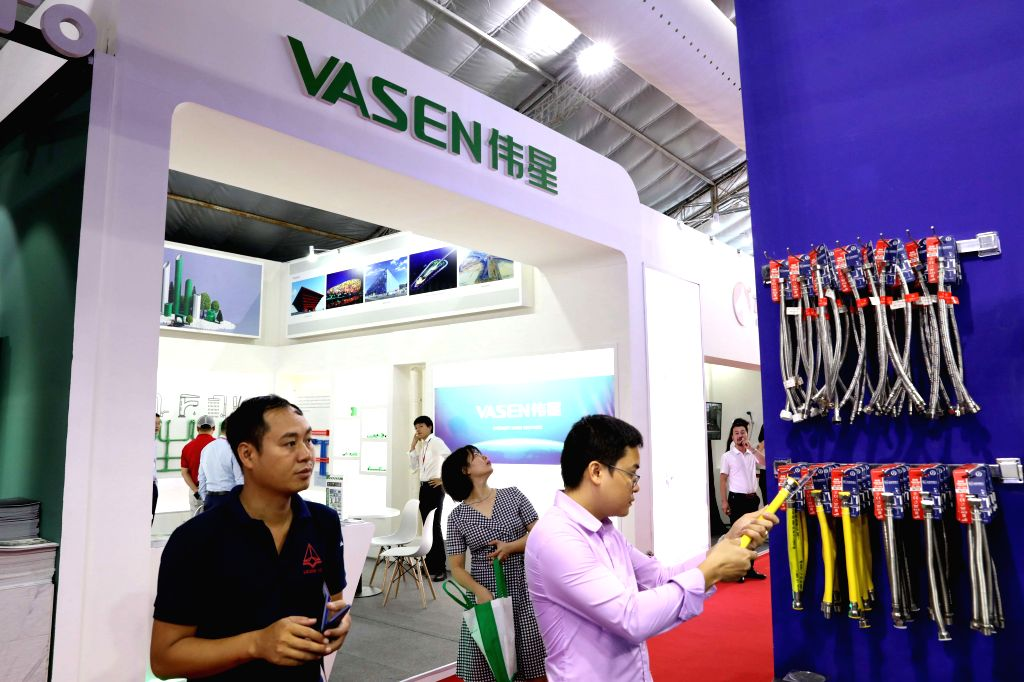 HANOI, Sept. 4, 2019 - People visit the 2019 China Building Brand Show (Vietnam) in Hanoi, Vietnam, on Sept. 4, 2019. The 2019 China Building Brand Show (Vietnam), hosted by the Chinese Ministry of ...