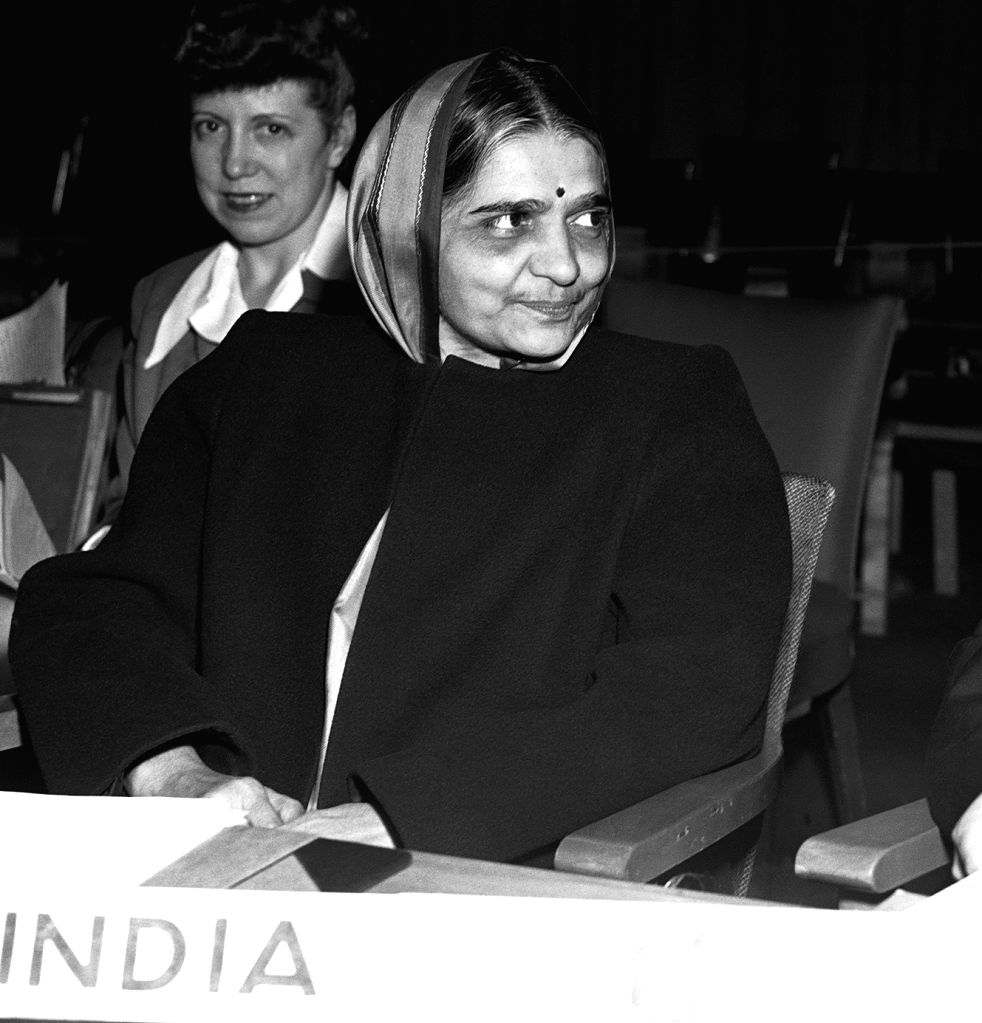 Hansa Mehta, the delegate of India to the UN Commission on Human Rights, ensured that the United Nations Universal Declaration of Human Rights included women in its text upholding their equality. - Hansa Mehta