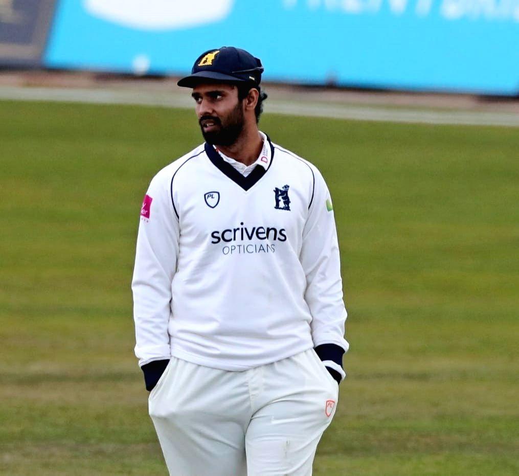 Hanuma Vihari dismissed for 23-ball duck on County debut.(Credit: Warwickshire CCC)