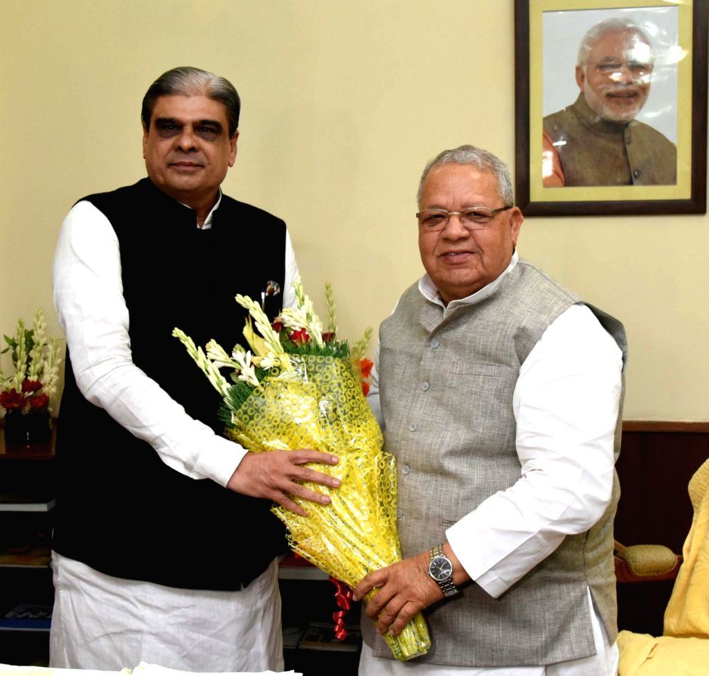 Haribhai Parthibhai Chaudhary takes charge as Union Minister of State for Micro, Small and Medium Enterprises, in the presence of the Union Minister for Micro, Small and Medium Enterprises ... - Haribhai Parthibhai Chaudhary and Enterprises Kalraj Mishra