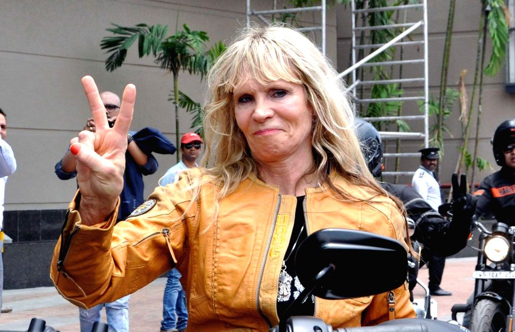 Harley-Davidson Inc. Creative Director (General Merchandise line) and great grand-daughter of Harley-Davidson co-founder William A Davidson, Karen Davidson during the launch of ...
