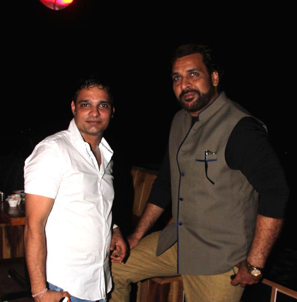 Harpreet Singh Ahluwalia and Shahbaz Khan during the launch of Rude Lounge`s Powai branch opening in Mumbai on June 14, 2014. - Harpreet Singh Ahluwalia and Shahbaz Khan