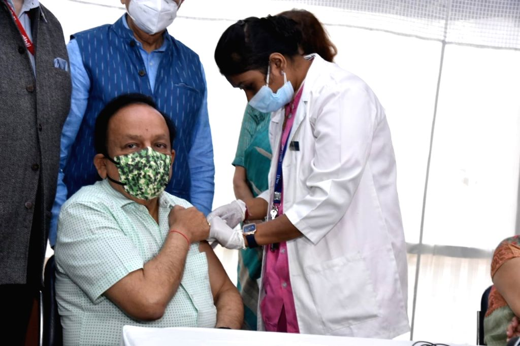 Harsh Vardhan takes 2nd dose of Covid vaccine