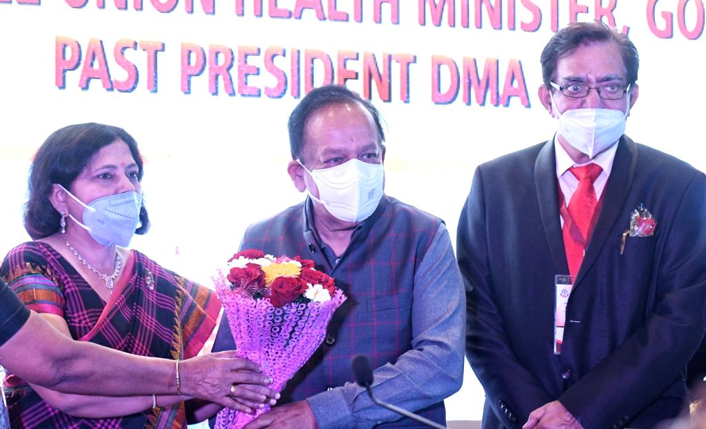 Harsh Vardhan, Union Minister for Health and Family Welfare during the inauguration of the 62nd  Delhi State Annual Medical Conference, in New Delhi, on Sunday 07th March, 2021.