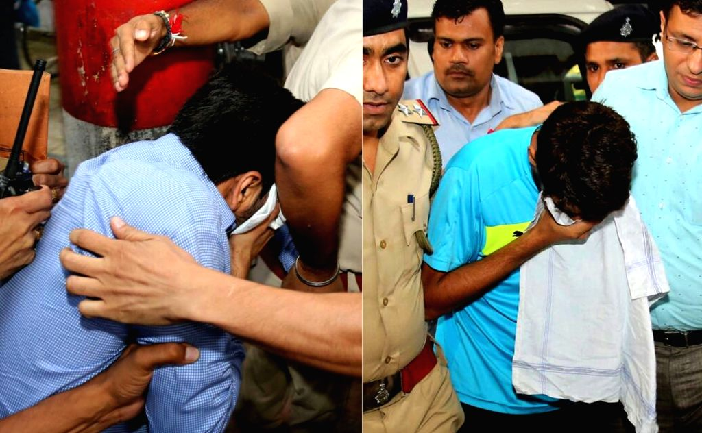 Haryana BJP President Subhash Barala's son (L) Vikas Barala and his friend (R) Ashish Kumar (R) who were arrested again by the Chandigarh Police after they were booked under the ... - Ashish Kumar
