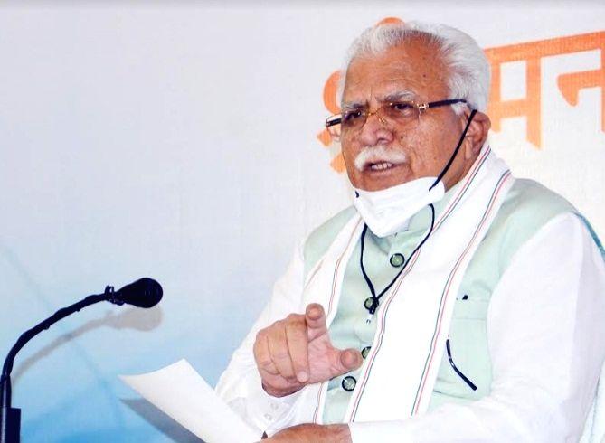 Haryana Chief Minister Manohar Lal Khattar. - Manohar Lal Khattar