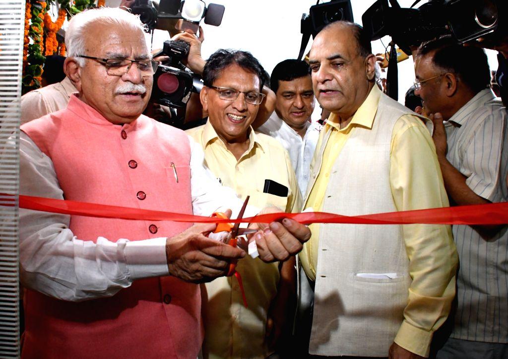 Haryana Chief Minister Manohar Lal Khattar inaugurates new Media Centre at Haryana Bhawan in New Delhi on July 28, 2019. - Manohar Lal Khattar