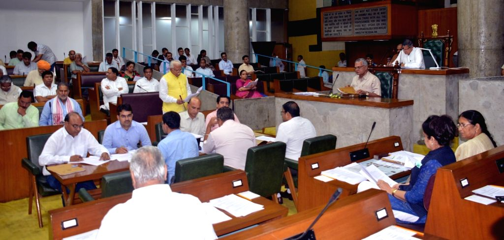 Haryana Chief Minister Manohar Lal Khattar addresses during the Monsoon Session of the state assembly, in Chandigarh on Aug 2, 2019. - Manohar Lal Khattar