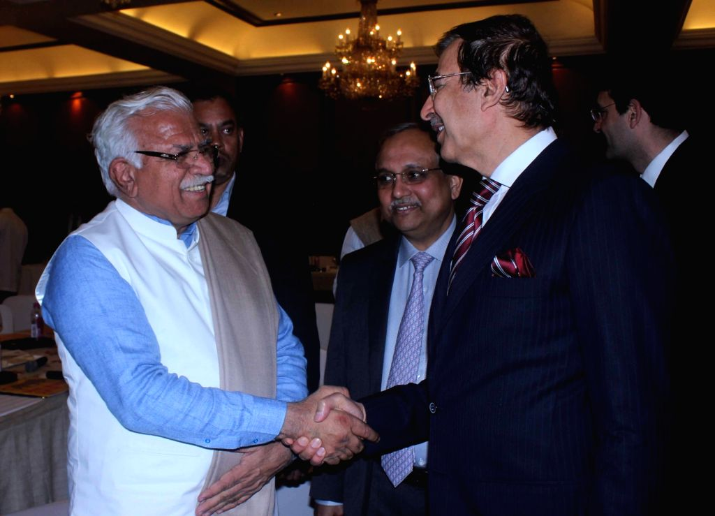 Haryana Chief Minister Manohar Lal Khattar during a CII programme in New Delhi on Jan 15, 2016. - Manohar Lal Khattar