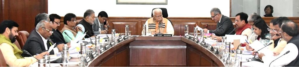 Haryana Chief Minister Manohar Lal Khattar during a cabinet meeting in Chandigarh on Feb 13, 2019. - Manohar Lal Khattar