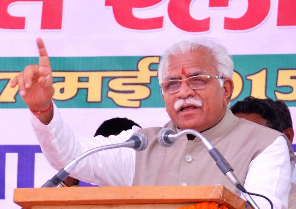 Haryana Chief Minister Manohar Lal Khattar. (File Photo: IANS) - Manohar Lal Khattar
