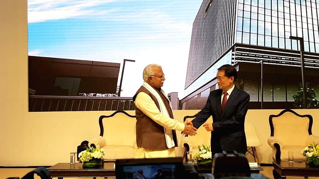Haryana CM inaugurates Hyundai Motors 'India Headquarters' in Gurugram.