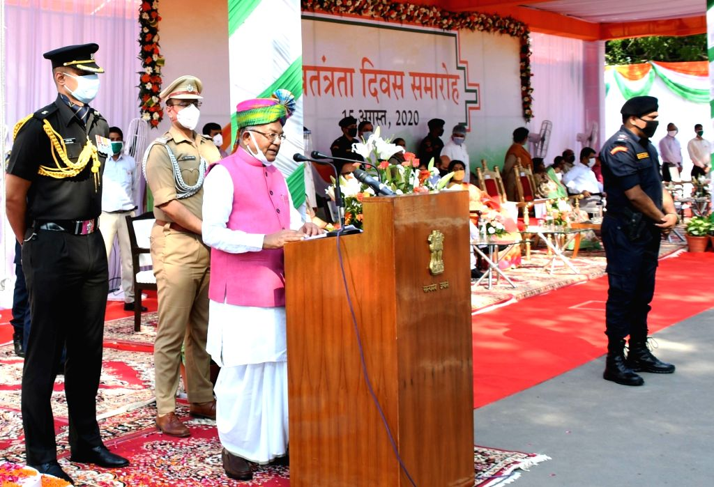 Haryana Governor Satyadeo Narain Arya addresses during the 74th Independence Day celebrations at Raj Bhawan in Chandigarh on Aug 15, 2020.
