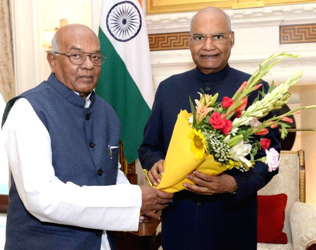 Haryana Governor Satyadeo Narain Arya meets President Ram Nath Kovind, in New Delhi on June 14, 2019. - Nath Kovind