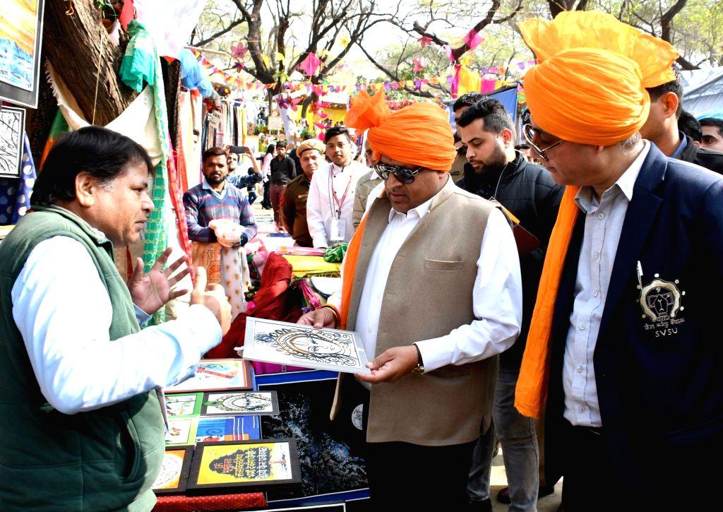 Haryana Industries and Commerce Minister Vipul Goel at the 33rd Surajkund International Crafts Mela in Haryana's Faridabad, on Feb 8, 2019. - Vipul Goel