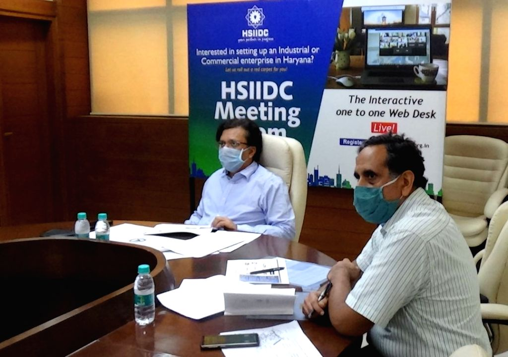 Haryana State Industrial and Infrastructure Development Corporation (HSIIDC) Managing Director Anurag Agarwal during a Webinar on ???Capital Goods Sector: Challenges and Emerging ...