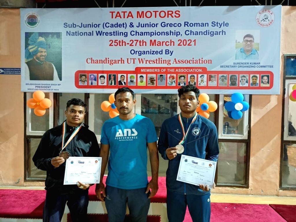 Haryana win sub-junior cadet freestyle wrestling title.