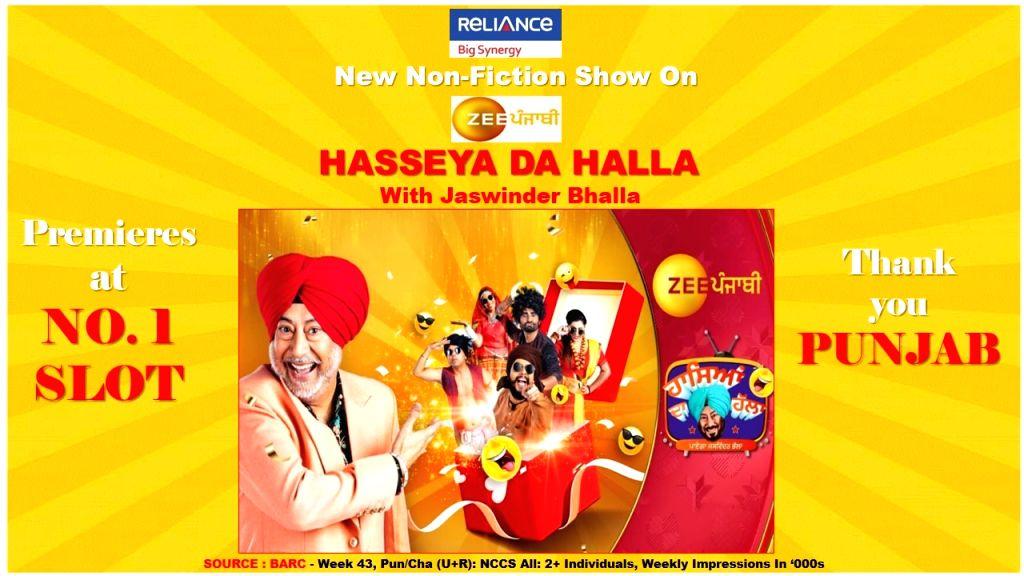 Hasseya Da Halla With Jaswinder Bhalla' emerges as winner in TRP race.