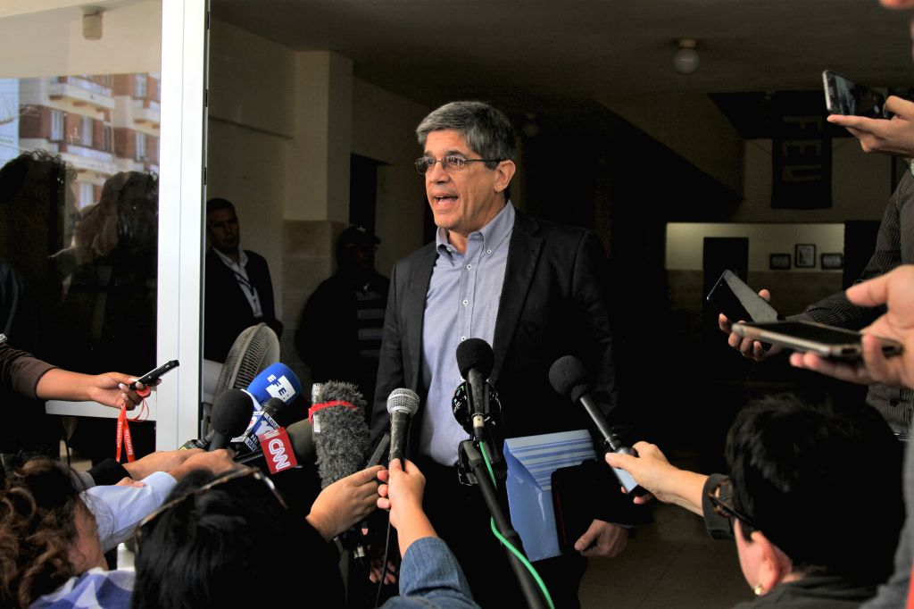HAVANA, Dec. 13, 2018 - Carlos Fernandez de Cossio, head of U.S. affairs at Cuba's foreign ministry, speaks to reporters in Havana, Cuba, Dec. 12, 2018. Two years after the United States first ...