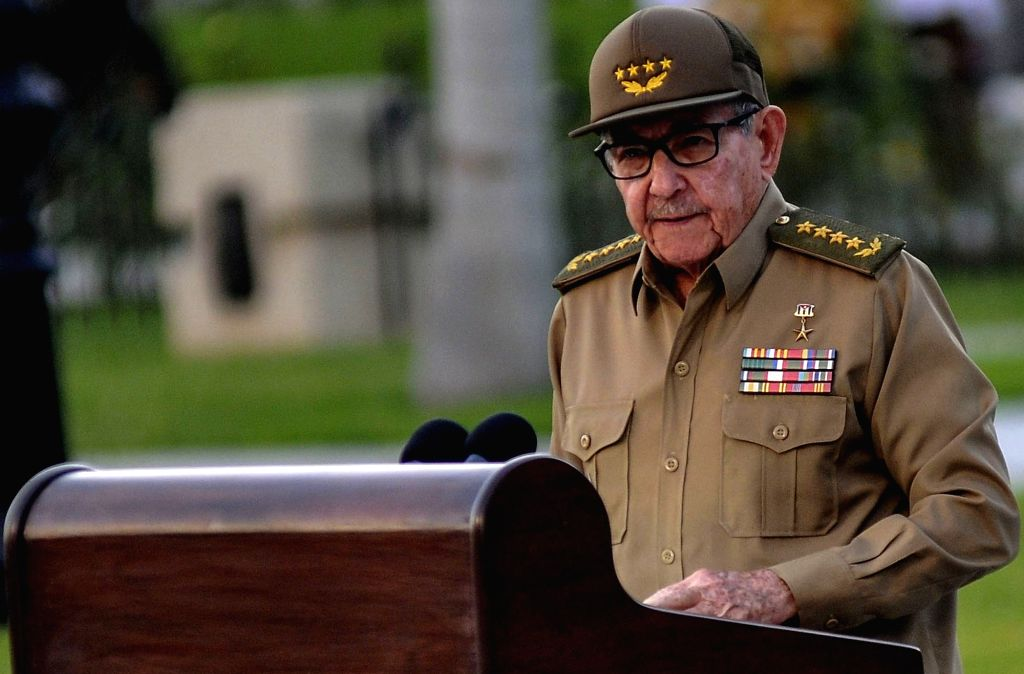 HAVANA, Jan. 2, 2019 (Xinhua) -- Raul Castro, first secretary of the Central Committee of the Communist Party of Cuba delivers a speech at a ceremony marking the 60th anniversary of Cuba's revolution victory at the Santa Ifigenia cemetery in Santiago