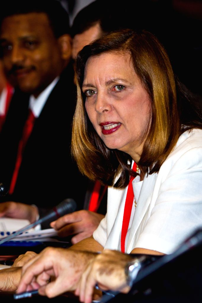 Josefina Vidal Ferreira, Director General for United States of Cuban Ministry of Foreign Affairs, attends the talks on the issue of restoring diplomatic relations of