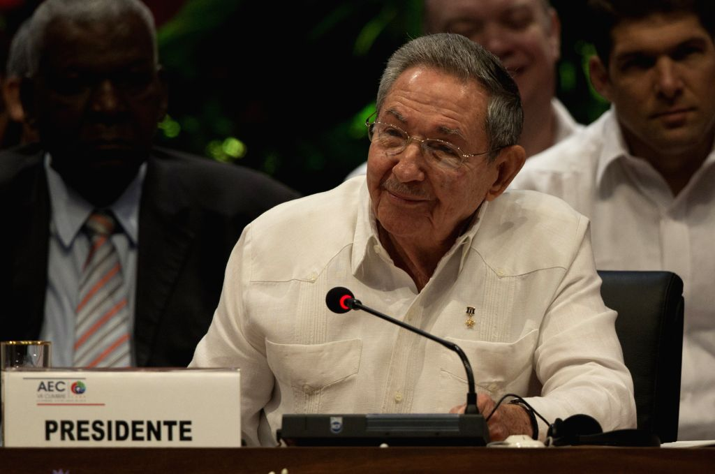 HAVANA, June 5, 2016 - Cuba's President Raul Castro (Front) takes part in the 7th Summit of the Association of Caribbean States (ACS) in Havana, Cuba, on June 4, 2016. The 7th summit of the ACS ...