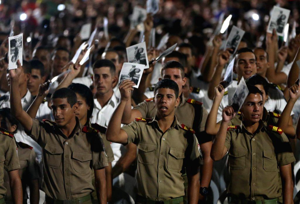 HAVANA, Nov. 30, 2016 - People take part in the tribute event to Cuban revolutionary leader Fidel Castro at Revolution Square, in Havana, Cuba, on Nov. 29, 2016. (Xinhua/David de la Paz)