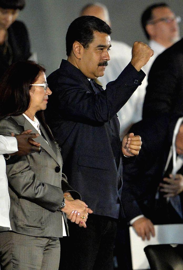 HAVANA, Nov. 30, 2016 - Venezuelan President Nicolas Maduro(C) takes part in the tribute event to Cuban revolutionary leader Fidel Castro at Revolution Square, in Havana, Cuba, on Nov. 29, 2016.